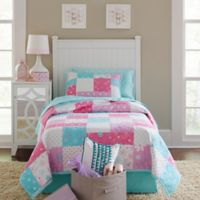 Lullaby Bedding Butterfly Garden 2-Piece Twin Quilt Set in Purple/White