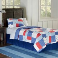 Lullaby Bedding Airplanes 2-Piece Twin Quilt Set in Red/Blue