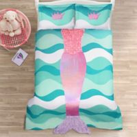 Lush Décor Mermaid Ruffle 3-Piece Full Comforter Set in Pink