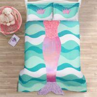 Lush Décor Mermaid Ruffle 2-Piece Twin Comforter Set in Pink