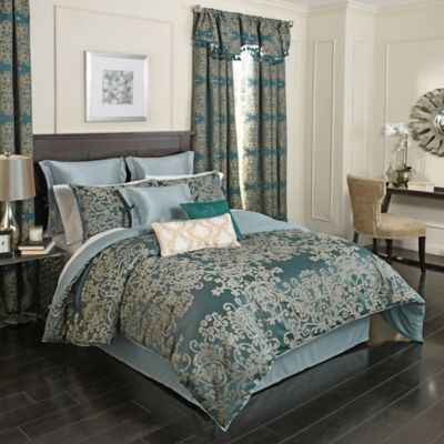 Beautyrest® Alexina 4 Piece Reversible King Comforter Set In Peacock
