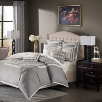Madison Park Signature Savoy 8-Piece King Comforter Set in Grey