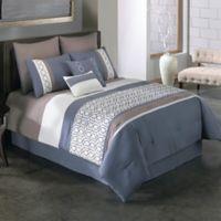Covington 8-Piece Full Comforter Set in Blue