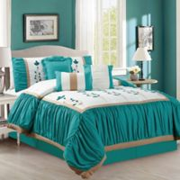 Elight Home Emma 7-Piece King Comforter Set in Green