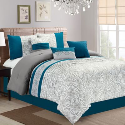 Buy Teal and Grey Bedding from Bed Bath & Beyond