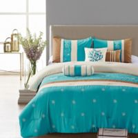 Elight Home Seward 7-Piece Queen Comforter Set in Blue