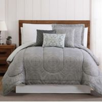 Calista 12-Piece King Comforter Set in Grey