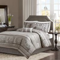 Madison Park Bellagio 7-Piece Queen Comforter Set in Grey