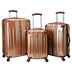 Traveler's Club® Polaris 3-Piece Hardside Spinner Suitcase Set in Copper