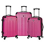 Traveler's Club® Chicago 3-Piece Hardside Spinner Luggage Set in Fuchsia