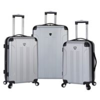 Traveler's Club® Chicago 3-Piece Hardside Spinner Luggage Set in Silver