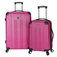 Traveler's Club® Chicago 2-Piece Hardside Spinner Luggage Set in Fuchsia