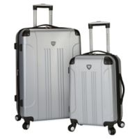 Traveler's Club® Chicago 2-Piece Hardside Spinner Luggage Set in Silver