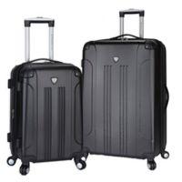 Traveler's Club® Chicago 2-Piece Hardside Spinner Luggage Set in Black