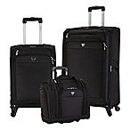 Traveler's Club® Monterey 3-Piece Luggage Set in Black