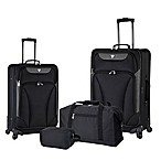 Traveler's Club® Augusta 4-Piece Luggage Set in Black