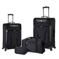 Traveler's Club® Augusta 4-Piece Luggage Set in Black