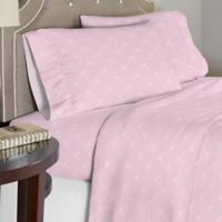 Lullaby Bedding Ballerina Twin/XL Sheet Set in Pink/White