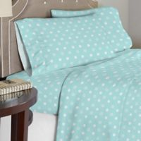 Lullaby Bedding Butterfly Garden 4-Piece Full Sheet Set in Blue/White