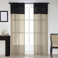 Westgate 84-Inch Rod Pocket Window Curtain Panel in Black