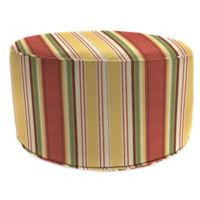 Aynovak Sunset All-Weather Multicolor Round Pouf Ottoman