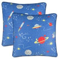 Lullaby Bedding European Pillow Shams in Blue/Red (Set of 2)