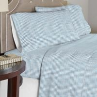 Lullaby Bedding Airplanes 4-Piece Full Sheet Set in Blue/White