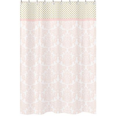 pink and gold shower curtain. Sweet Jojo Designs Amelia Shower Curtain in Pink Gold Buy Kids Curtains from Bed Bath  Beyond