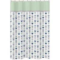 Sweet Jojo Designs Mod Arrow Shower Curtain in Grey/Mint
