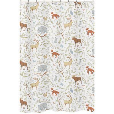 Sweet Jojo Designs Woodland Toile Shower Curtain