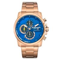 Head Topspin Men's 47mm Chronograph Watch in Rose Goldtone Stainless Steel with Blue Dial