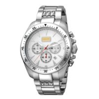 Just Cavalli Sport Show Time Men's 44mm Chronograph Watch in Stainless Steel with White Dial