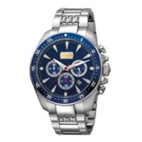 Just Cavalli Sport Show Time Men's 44mm Chronograph Watch in Stainless Steel with Blue Dial