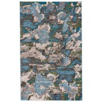 Feizy Vassar Abstract 2-Foot 2-Inch x 4-Foot Accent Rug in Turquoise