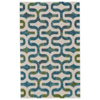 Feizy Vassar Ogee 2-Foot 2-Inch x 4-Foot Accent Rug in Blue