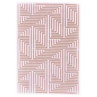 Feizy Soho Lyra Geometric Area Rug in Blush/White