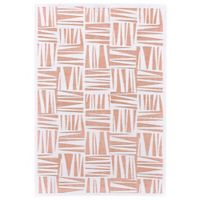 Feizy Soho Lyra Abstract 5-Foot 3-Inch x 7-Foot 6-Inch Area Rug in White/Blush