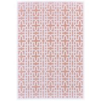Feizy Soho Lyra Cross 5-Foot 3-Inch x 7-Foot 6-Inch Area Rug in Blush/White