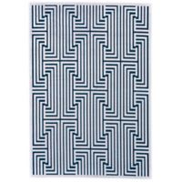 Feizy Soho Lyra Modern Diamond 5-Foot 3-Inch x 7-Foot 6-Inch Area Rug in Teal