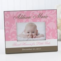 Floral Damask 4-Inch x 6-Inch Baby Frame