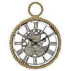FirsTime® Nautical Gears Wall Clock in White