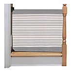 The Stair Barrier 36-Inch to 43-Inch Striped Wall to Banister Gate in Grey