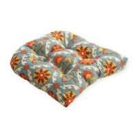 Pillow Perfect Mayan Medallion Chair Pad in Blue