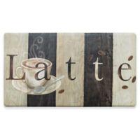 "Home Dynamix Cook N Comfort 20-Inch x 35-Inch ""Latte"" Kitchen Mat in Black/White"