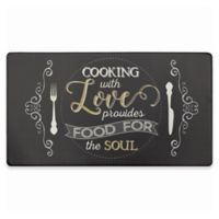 "Home Dynamix Cook N Comfort 19.6-Inch x 35.4-Inch ""Food for the Soul"" Anti-Fatigue Kitchen Mat"