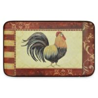 Home Dynamix Designer Chef 24-Inch x 36-Inch Rooster Kitchen Mat in Red