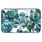 Home Dynamix Designer Chef 24-Inch x 36-Inch Blooms Kitchen Mat in Blue
