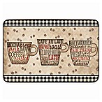 Home Dynamix Designer Chef 24-Inch x 36-Inch Coffee Words Kitchen Mat in Brown