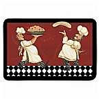 Home Dynamix Designer Chef 18-Inch x 30-Inch Pizza Kitchen Mat in Red
