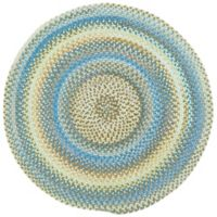 Capel Rugs Kill Devil Hill Braided 7-Foot 6-Inch Round Area Rug in Light Blue